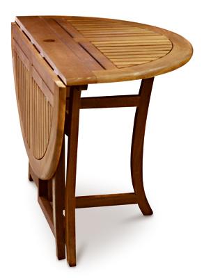 Groovy Details About Outdoor Interiors Llc Folding Eucalyptus Patio Table 48 In Round 10025 Frankydiablos Diy Chair Ideas Frankydiabloscom