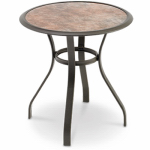 Boston Marble Glass Bistro Table, 28-In. Round