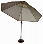 Boston Steel Sling Umbrella, Taupe, 9-Ft. x 99-In.