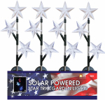 LED Star Solar Stake, Red, White & Blue, Must Purchase in Quantities of 12