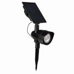 Solar Flood Light, Black, 100-Lumen, Must Purchase in Quantities of 6