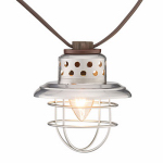 Galvanized Lantern 10-Light Set