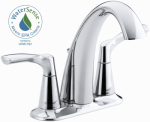 Mistos Lavatory Faucet, Double Handle, Polished Chrome