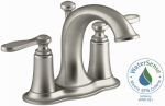 Linwood Lavatory Faucet, Double Handle, Brushed Nickel
