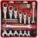 Combination Ratcheting Wrenches, SAE, 7-Pc.