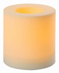 Indoor/Outdoor Candle, White, 6 x 6-In.