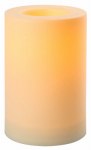 Indoor/Outdoor Candle, White, 6 x 9-In.