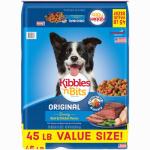 Dog Food, Dry, Original Savory Beef & Chicken, 45-Lb. Bag