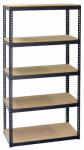 Shelving Unit, 5 Shelves, Steel, 16 x 36 x 72-In.