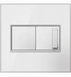 Wall Plate, 2-Gang, White Mirror