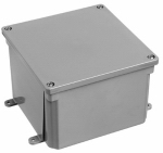 Electrical PVC Junction Box, 8 x 8 x 4-In.