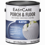 Exterior Satin Porch & Floor Coating, Urethane Fortified, Medium Gray, 1-Gal., Must Purchase in Quantities of 2
