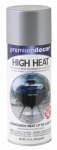 Premium Decor High-Heat Spray Paint, Dull Aluminum, 12-oz.
