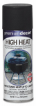 Premium Decor High-Heat Spray Paint, Flat Black, 12-oz.