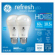 Refresh HD LED Light Bulb, Daylight, Dimmable, 800 Lumens, 10-Watt, 2-Pk.