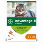 Advantage II For Small Cats, Orange, 4-Pk.