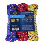 TG 3PK 1/4x50 Poly Rope