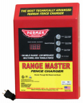 Range Master Advanced Electric Fence Charger, 100-Mile, Digital Meter with Alarms, Plug-In
