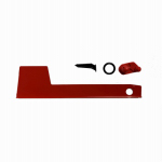 Mailbox Replacement Flag Kit, Red Aluminum