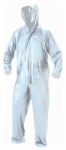Rain Suit, Clear PVC, 2-Pc., XL