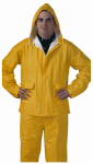 PVC Rainwear .25-Mm Double-ply Suit, Yellow, Large