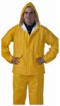 PVC Rainwear .25-Mm Double-ply Suit, Yellow, XL