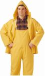 PVC on Polyester Rainwear .35-Mm Suit, Yellow, Large