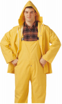 PVC on Polyester Rainwear .35-Mm Suit, Yellow, XL