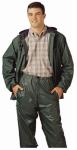 PVC on Nylon Rainwear Suit, Green, XL