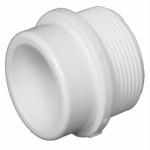 Plastic Pipe Fitting, DWV  Spigot x MIP Thread Adapter, 1-1/2-In.