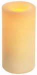Flameless Wax Pillar, Battery-Operated, Cream, 6-In.