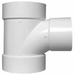 Plastic Pipe Fitting, DWV  Sanitary Tee, PVC, 3-In.