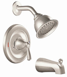 Banbury Tub / Shower Faucet Handle, Spout & Showerhead, Brushed Nickel