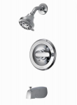 Monitor Single-Handle Tub/Shower Faucet + Showerhead, Chrome