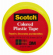 Plastic Tape, Yellow, 3/4 x 125-In., Must Purchase in Quantities of 6