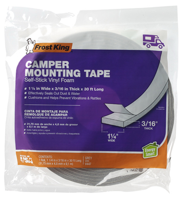 Frost King Camper Foam Weather Strip Tape 1-1/4x3/16x30 ft  V447H
