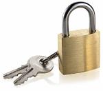 2-Pack Small Brass Padlocks With Keys