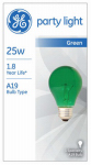 25-Watt Transparent Green Party Bulb, Must Purchase in Quantities of 6