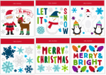 Christmas Window Clings, Assorted, 11.5 x 12-In., Must Purchase in Quantities of 24
