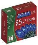 Christmas Lights Set, Clear Blue, 25-Ct.