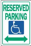 """Sign, """"Handicapped"""" Symbol, Blue & White Aluminum, 12 x 18-In."""