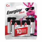 """""""C"""" Alkaline Batteries, 4-Pk."""