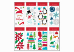 6 x 12-Inch Christmas Window Clings, Must Purchase in Quantities of 24