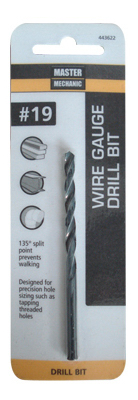 Master mechanic 3 14 in black oxide drill bit 19 443622 wire gauge diameters fall between fractional sizes for most precise hole sizes taps through sizes 14 28 require the use of wire gauge bits carded keyboard keysfo Choice Image