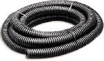 Split Flexible Tubing, Black, Corrugated, 0.375-In. x 10-Ft., Must Purchase in Quantities of 4