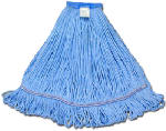 Mop Head, Blue Looped End, Cotton Rayon, 22-24-oz.