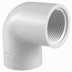 Pipe Fitting, PVC Ell, 90-Degree, White, 1-In.
