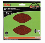 3-Pack 6-Inch Stick-On Extra-Coarse Sanding Disc