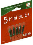 Christmas Lights Replacement Bulb, For 50, 100 & 150-Light Sets, Green, 2.5-Volt