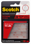 Extreme Fasteners Recloseable  Strip, Clear,  1 x 3-In., 2-Pr.